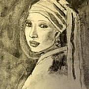 Girl With Earring Art Print