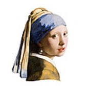 Girl With Pearl Earring Flip Side Art Print