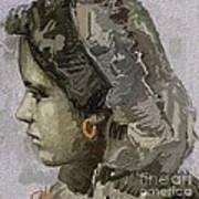 Girl With Yellow Earring Gwye1 Art Print