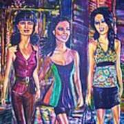 Girlfriends Art Print by Linda Vaughon