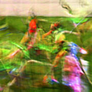 Girls Lacrosse Abstract Art Print