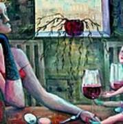 Girls Party Art Print by Elisheva Nesis