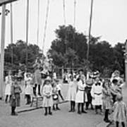 Girls Playground 1899 Print by Steve K