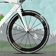 Giro D'italia Bike Art Print by Andy Scullion