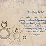 Give Glory To God Art Print