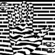 Give Me Five Maze  Art Print