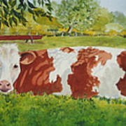 Give Me Moooore Shade Print by Mary Ellen Mueller Legault