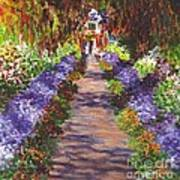 Giverny Gardens Pathway After Monet  Art Print