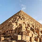 Giza Pyramid Detail Art Print by Jane Rix