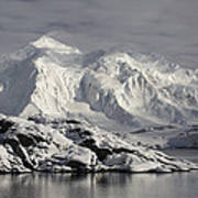 Glaciated Peaks Anvers Isl Antarctica Art Print