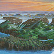 Glacier Castle Ruins Art Print