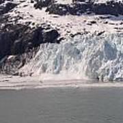Glacier Falling Into Bay Art Print
