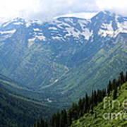 Glacier Mountain Art Print