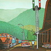 Glacier Park Belton Montana Art Print