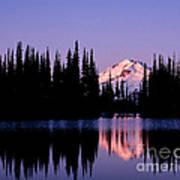 Glacier Peak Sunrise On Image Lake Art Print