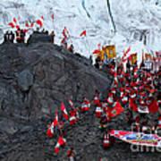 Glacier Pilgrimage Quyllur Riti Festival Art Print