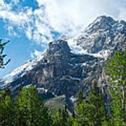 Glacier Seen From Kicking Horse Campground In Yoho Np-bc Art Print