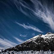 Glacier Sky Art Print