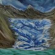 Glacier To Ocean Art Print