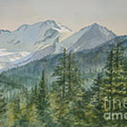 Glacier Valley Morning Sky Art Print