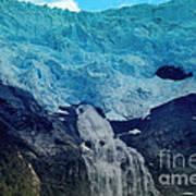 Glacier Waterfall Art Print