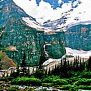 Glaciers Along Plain Of Six Glaciers Trail In Banff Np-alberta Art Print