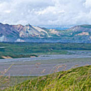 Glaciers And Mountains From Eielson Visitor's Center In Denali Np-ak  Art Print