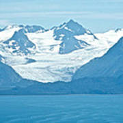 Glaciers In Kenai Range Over Kachemak Bay In Homer-ak- Art Print