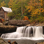 Glade Creek Grist Mill 10 Art Print
