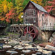 Glade Creek Grist Mill 3  Art Print
