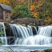 Glade Creek Grist Mill And Waterfalls Art Print