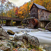 Glade Creek Grist Mill-babcock State Park West Virginia Art Print by Dick Wood