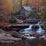 Glade Creek Grist Mill In Autumn Art Print by Jetson Nguyen