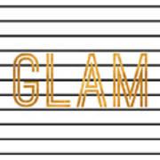 Glam Pinstripe Gold Art Print