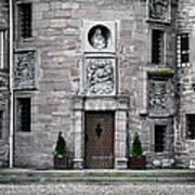 Glamis Castle. Doorway Art Print