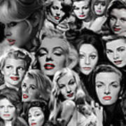 Glamour Girls 1 Art Print