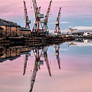 Glasgow Cranes With Belt Of Venus Art Print