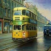Glasgow Tram. Art Print by Mike  Jeffries