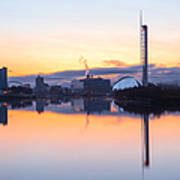 Glasgow Waterfront At Dawn Boxing Day Art Print