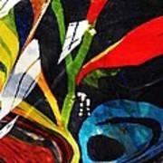 Glass Abstract 297 Art Print