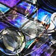 Glass Abstract 396 Art Print