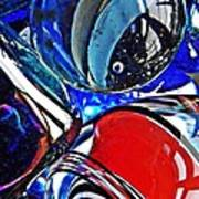 Glass Abstract 507 Art Print