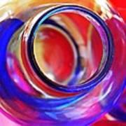 Glass Abstract 592 Art Print
