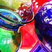 Glass Abstract 618 Art Print