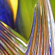 Glass Abstract 743 Art Print