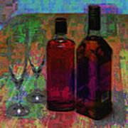 Glass And Liquor Art Print