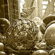 Glass Balls Japanese Glass Buoys Art Print
