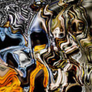 Melting Glass Art Print