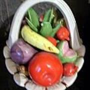 Glass Fruit Bowl Art Print