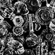 Glass Knobs - Bw Art Print